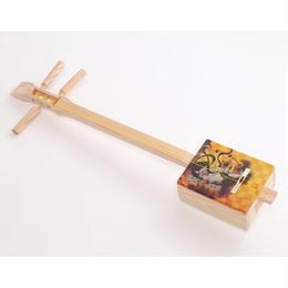 [29003]【おみやげ三味線】 しゃみ小町(Shamikomachi)杉・風神雷神