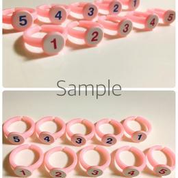 ピンク✴︎子供用サイズ♪指番号付ゆびのトレーニング用指輪(左右薄いピンク)