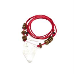 ガネーシュヒマール産ヒマラヤ水晶 真鍮パーツネックレス(クリア、クローライト)B