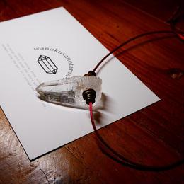 ガネーシュヒマール産ヒマラヤ水晶(クリア・クローライト)真鍮パーツネックレス