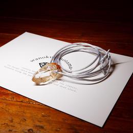ガネーシュヒマール産ヒマラヤ水晶(クリア、ゴールデンヒーラー)サテンコードネックレス