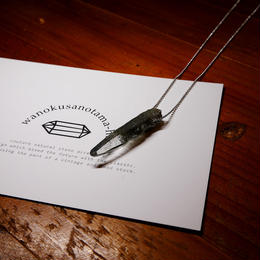 ガネーシュヒマール産ヒマラヤ水晶(クローライト)シルバーネックレス