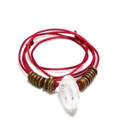 ガネーシュヒマール産ヒマラヤ水晶 真鍮パーツネックレス(クローライト)