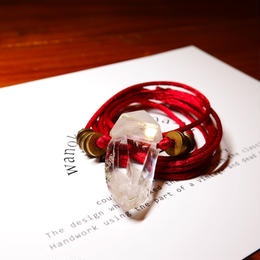 ガネーシュヒマール産ヒマラヤ水晶 真鍮パーツネックレス SRE