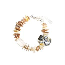 天然石のブレスレット マダガスカルアゲート・クリスタル・マザーオブパール