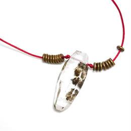 ガネーシュヒマール産ヒマラヤ水晶 真鍮パーツネックレス(クローライト、マイカ)