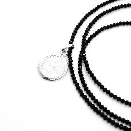 ブラックスピネル(幸運のメダイ)ネックレス