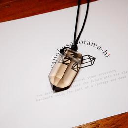 ガウリシャンカール産ヒマラヤ水晶 ネックレス(ライトスモーキー)