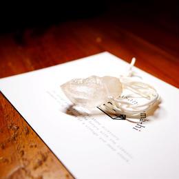 ガネーシュヒマール産ヒマラヤ水晶(クリア)サテンコードネックレス H