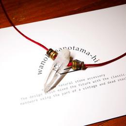 ガネーシュヒマール産ヒマラヤ水晶 真鍮パーツネックレス SSRB