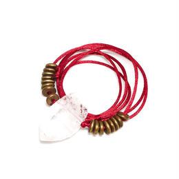 ガネーシュヒマール産ヒマラヤ水晶 真鍮パーツネックレス(クリア)B