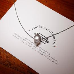 ダブルポイント水晶 シルバーネックレス A