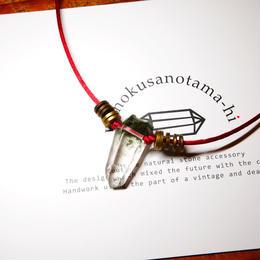ガネーシュヒマール産ヒマラヤ水晶 真鍮パーツネックレス SSRA