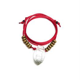 ガネーシュヒマール産ヒマラヤ水晶 真鍮パーツネックレス(クリア、クローライト)A