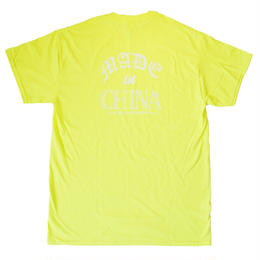 yin-yang smiley TEE(FLUORESCENT YELLOW/WHITE)