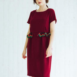 Peplum dress(wine red)