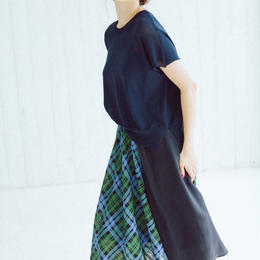 Check pattern・skirt(green)