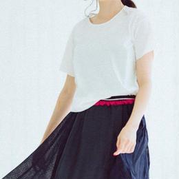 mini T-shirts(Logo Rubber Print・white)
