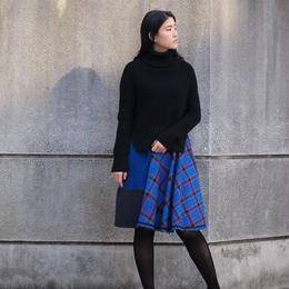 Skirt(blue check)