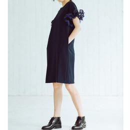 Wire Ribbons dress(navy)