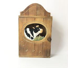 鍵の収納箱/乳牛の世界 木製 withBambi
