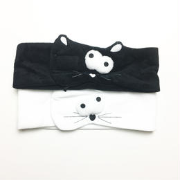 猫 洗顔ヘアバンド/マジックテープ withBambi