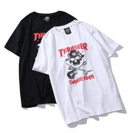 特価 数量限定 大人気 THRASHER スラッシャー Tシャツ メンズ レディース 半袖 人気新品 男女兼可 14-TH-7091
