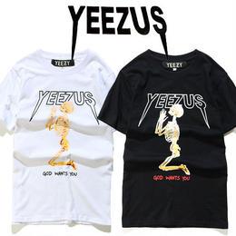 大人気 YEEZY イージー Tシャツ 半袖 人気新品 男女兼可 F89-YZ-1013