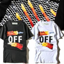 大人気 オフホワイト OFF-WHITE Tシャツ 半袖 人気新品 男女兼可 F89-OF-2006