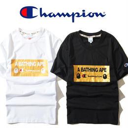 大人気 チャンピオン CHAMPION A BATHING APE ア ベイシング エイプ Tシャツ 半袖 人気新品 男女兼可 F89-CP-6008