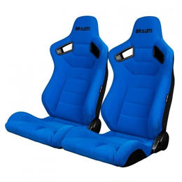 2脚【Braum Racing  セミバケットシート Elite ブルー】