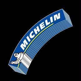 4枚セット【Michelin タイヤステッカー 青白】