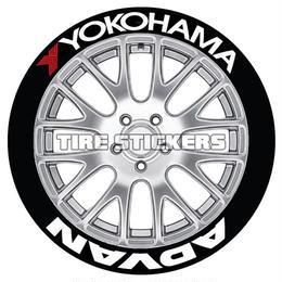 【YOKOHAMA ADVAN タイヤステッカー ラバータイプ(Permanent)】