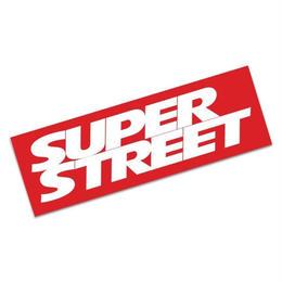 【SUPER STREET バンパーステッカー 各色】