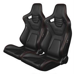 2脚【Braum Racing  Elite-X 黒&赤ステッチ】