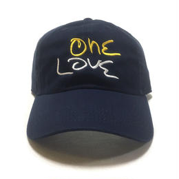 One Love Dad Hat (Navy x Yellow x White)
