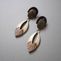 leather concho  pierce/earring BROWN