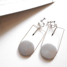 circle square pierce/earrings SILVER