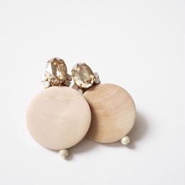 circle bijou pierce/earrings BEIGE