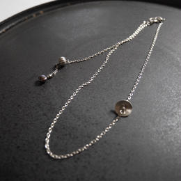 karen silver short necklace DISK