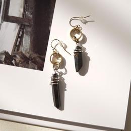 crystal pierce/earrings BLACK