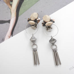 cement pierce/earring BEIGE