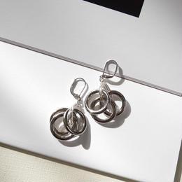 3lines  pierce/earrings SILVER