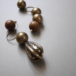 metal wood pierce/earring  GOLD