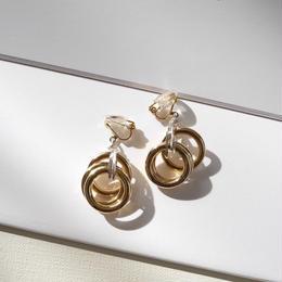 3lines  pierce/earrings GOLD