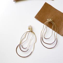 cell wire pierce/earrings CARAMEL