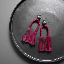 horse tail  pierce/earrings PURPLE