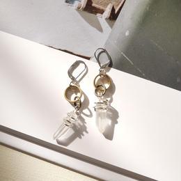 crystal pierce/earrings CLEAR