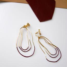 cell wire pierce/earrings RASPBERRY