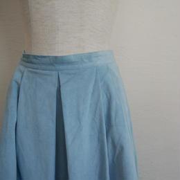 smooth fabric long skirt
